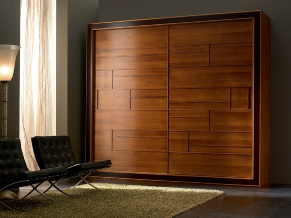 19 great ideas of wardrobe with sliding doors homedizz. Black Bedroom Furniture Sets. Home Design Ideas