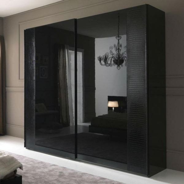 leather upholstery black carpet bedrooms wardrobe sliding doors