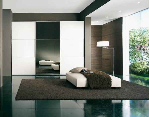 minimalist bedroom carpet bed wood texture