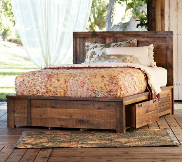 retro rustic bed with storage very romantic and elegant resized