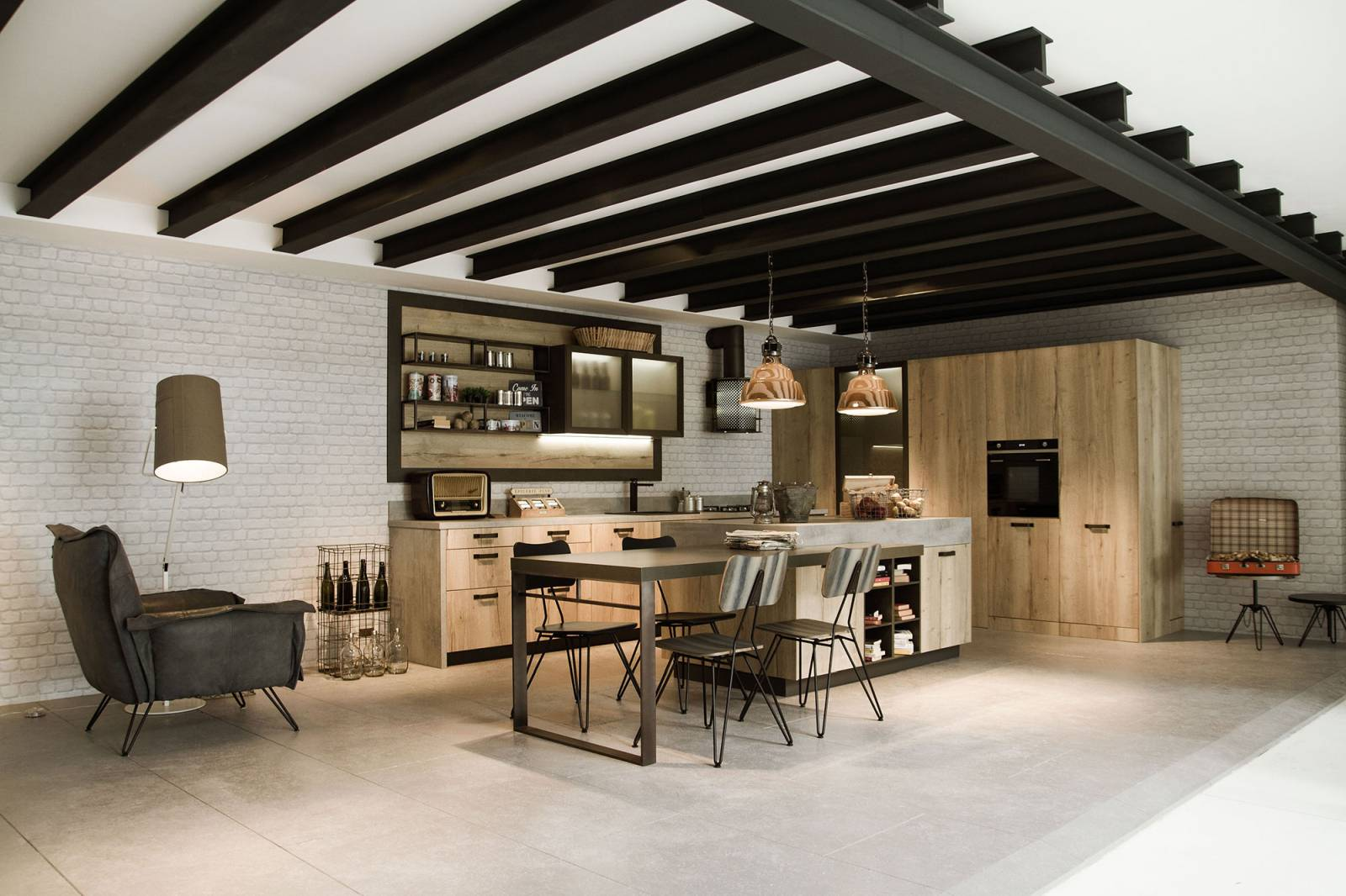 63 loft kitchen design & decor ideas: industrial, urban and modern style