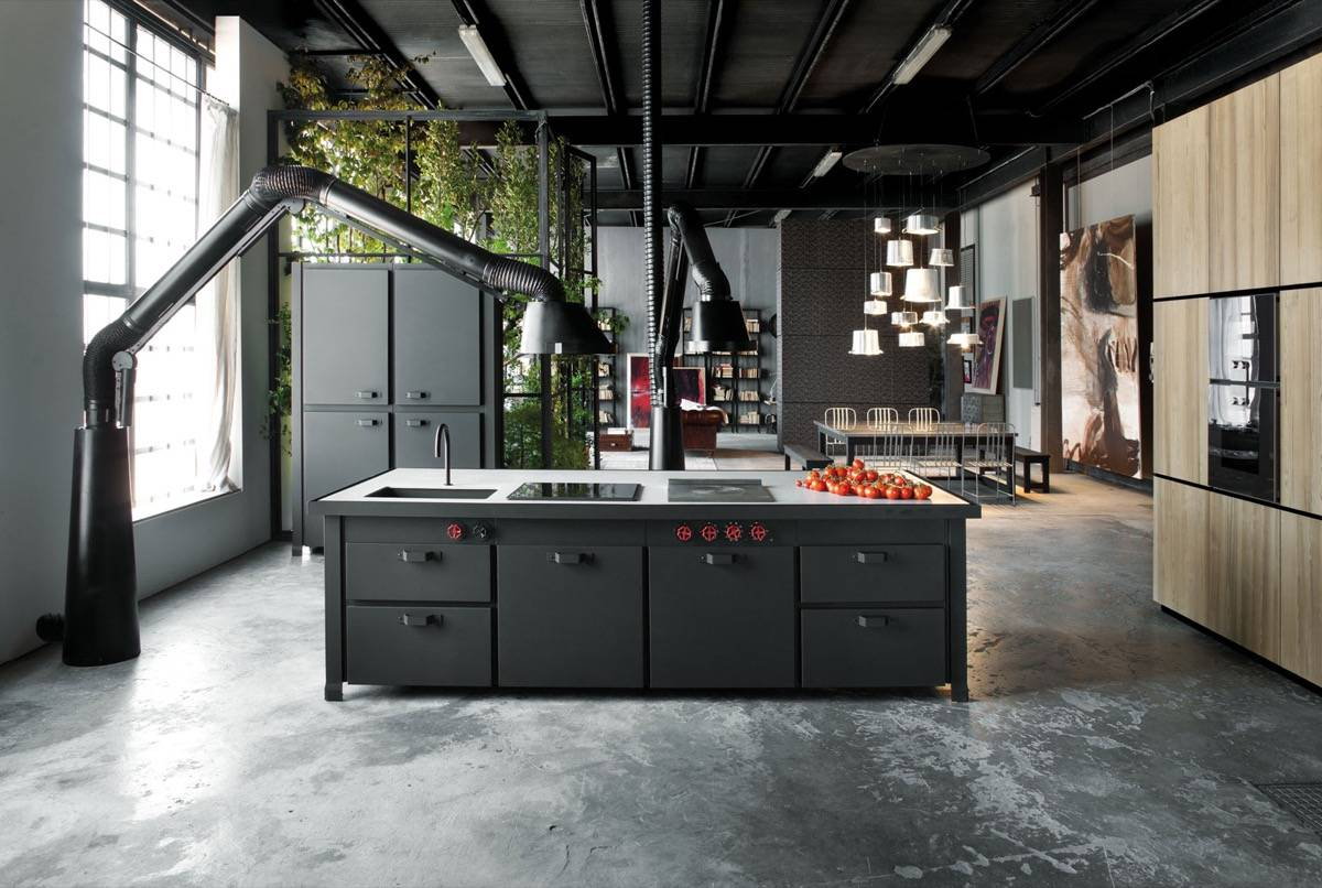 industrial design kitchen pantry