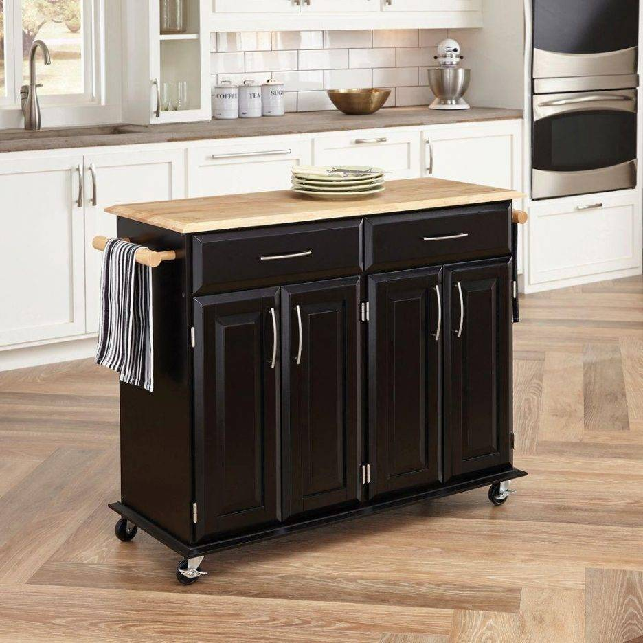 Simple small industrial kitchen island cart on wheels