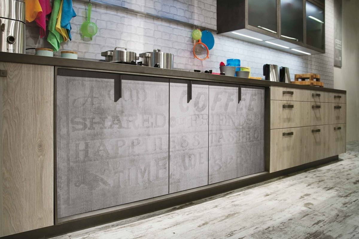 industrial style loft kitchen cabinets