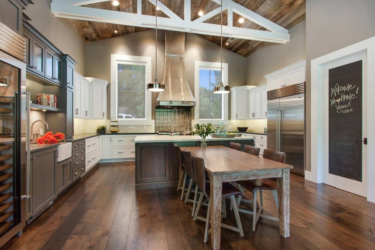 Best sample of loft kitchen decor which combine industrial, urban and rustic elements.