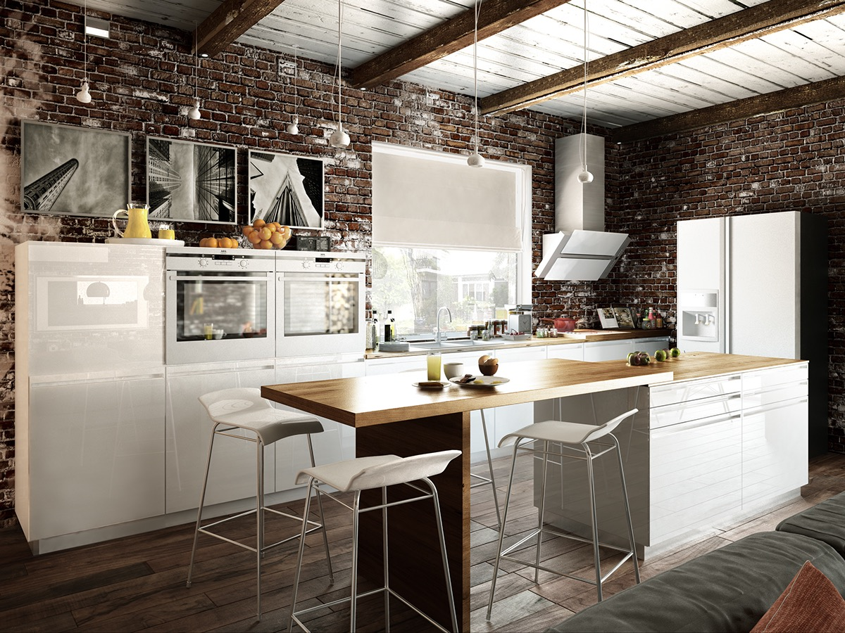 small loft kitchen design